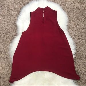 Monteau Tops - Red Turtle Neck Tank